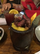 Mofongo with Skirt Steak