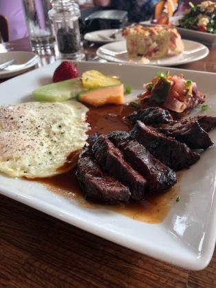 Kobe steak and eggs