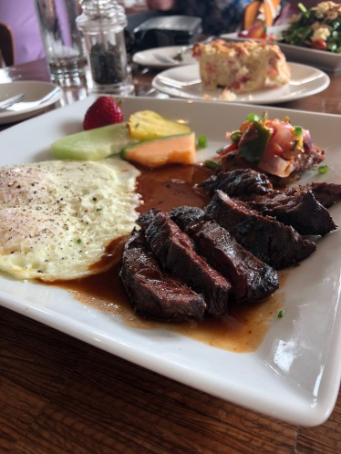 Kobe steak and eggs